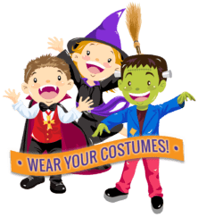 Halloween Candy Hunt costumes kid-friendly at the farm with animals