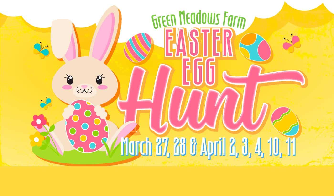 Green Meadows Farm Brooklyn Easter Egg Hunt Aviator Sports Bunny March April Event